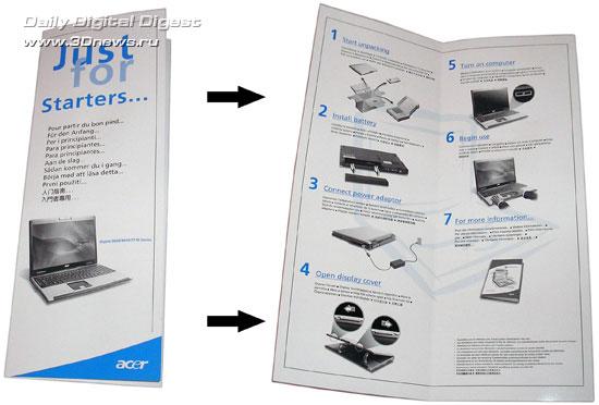 Acer Aspire 9424WSMi  - инструкция для новичков