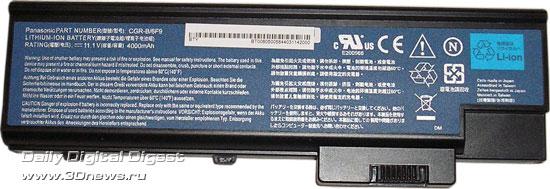 Acer Aspire 9424WSMi  - аккумулятор
